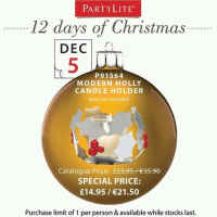 On the 5th Day of Christmas Partylite Gave to You...