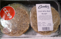4 'Chilly Willy' Burgers for £2.99