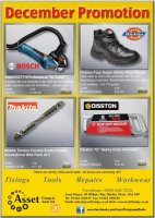 December Promotions from Asset Fixings and Tools