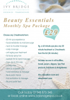 """Beauty Essentials"" Monthly Spa Package"