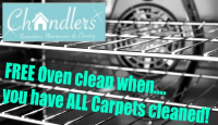 FREE Oven Clean when you have ALL Carpets cleaned!