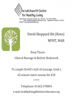 Deep Tissue, Clinical Massage & Holistic Bodywork at The Letchworth Centre