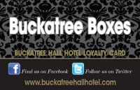 'Buckatree Boxes' - Buckatree Hall Hotel Loyalty Card