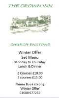 Winter Set Menu Offer