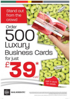 500 Luxury Business Cards for just £39 +VAT