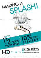 Half Price Sight Test and 10% off eyewear