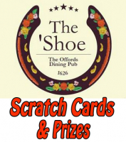 "'On The House' Scratch Card at  ""The Shoe"""
