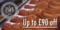Up to £90 off selected Cheaney Brogues
