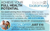 JUST £15 for a full Chiropractic Consultation (Save £65)  - Back 2 Balance