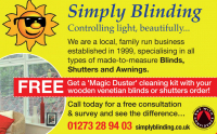FREE Magic Duster Cleaning kit with your Wooden Venetian Blinds or Shutters