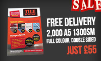 2000 A5 130GSM LEAFLETS (FULL COLOUR, DOUBLE SIDED) JUST £55!