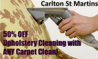 50% OFF Upholstery Clean with every Carpet Clean!
