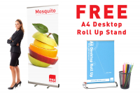 FREE A4 Desktop stand with Roll up stands!