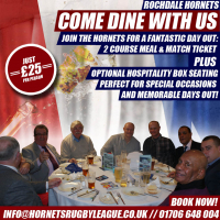 Come Dine With Us At Rochdale Hornets