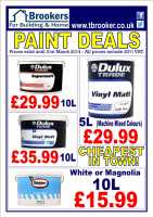 """Cheapest Paint Deals in Town"" from Brookers"