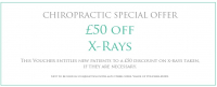 Chiropractic offer - £50 off X Rays