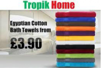 Egyptian Cotton Bath Towels - From £3.90 Only