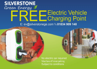 FREE Electric Vehicle Charging Point From Silverstone Green Energy