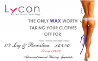Lycon Waxing session for just £65.00