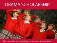 Drama Scholarships avaialble