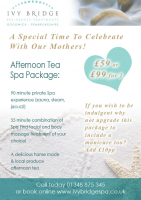Afternoon Tea Spa Package