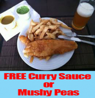 Free Curry Sauce or Mushy Peas at Traditional Fish & Chips St Neots