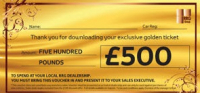 SAVE £500* ON A NEW VEHICLE FROM RRG
