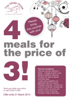 4 meals for the price of 3!