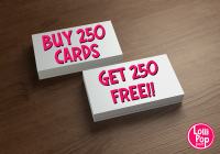 BUY 250 BUSINESS CARDS, GET 250 FREE