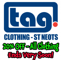 Ends Very Soon - 20% Off All Clothing - Tag St Neots