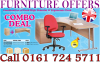 ERGONOMIC DESK AND PEDESTAL FOR JUST £199
