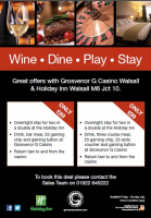 Wine, Dine, Play and Stay - from only £69!