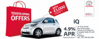 £1,000 FINANCE DEPOSIT ALLOWANCE ON THE TOYOTA iQ
