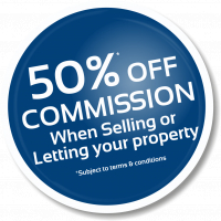 50% Off commission!
