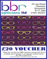 £20 Off Voucher at BBR Opticians