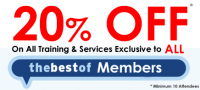 20 % off All Courses for Bestof Members