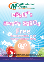 April's Easter Offer - Free Matt Lamination on all 400gsm Business Cards