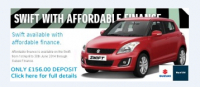 Suzuki Swift with affordable finance. From £156 per month.