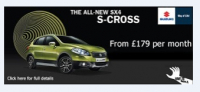 SX4 S-Cross from £179 per month. Take a look at how much you can save.