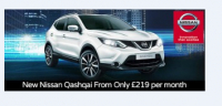 New Nissan Qashqai available from £219 per month.