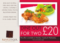 2 Dine for £20.00