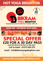 FREE Hot Yoga Classes + Special Trial Offer - Saturday 26th April 2014