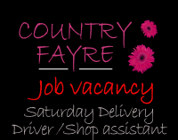 Job Vacancy - Delivery Driver / Shop Assistant - Saturdays