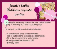Special Offer - Cupcake Party for 6 Children Only £130