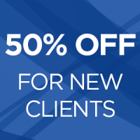 50% off for new clients