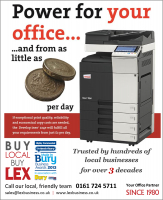 ADD A SPLASH OF COLOUR TO YOUR OFFICE WITH A FEATURE FILLED MFP - LEASE FOR JUST £2 PER DAY