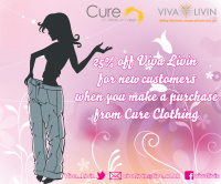 25% off with Viva Livin & Cure Clothing
