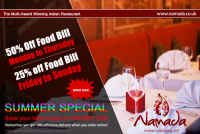Enjoy the Summer Special from Namada Restaurant - up to 50% off your food bill