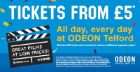 Tickets from £5 - all day, every day at Odeon Telford