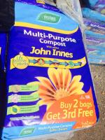 3 x John Innes Multipurpose Compost only £12 at Brondesbury Park Garden Centre